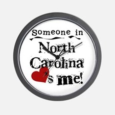Someone in North Carolina Wall Clock