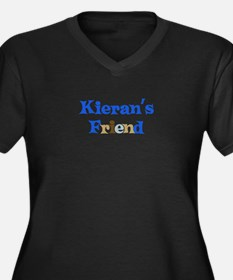 Kieran's Friend Women's Plus Size V-Neck Dark T-Sh
