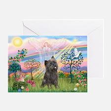 Cloud Angel 2 /Cairn Terrier Greeting Card