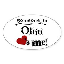 Someone in Ohio Oval Decal