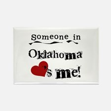 Someone in Oklahoma Rectangle Magnet