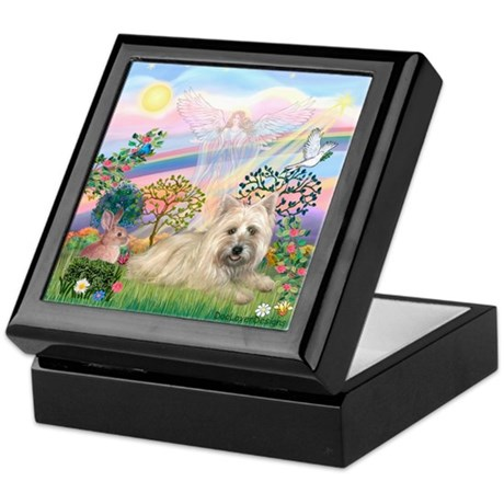 Cloud Angel 2 /Cairn Terrier Keepsake Box