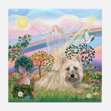 Cloud Angel 2 /Cairn Terrier Tile Coaster