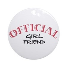 Official Girl Friend Ornament (Round)