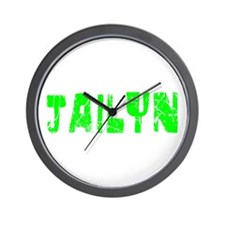 Jailyn Faded (Green) Wall Clock