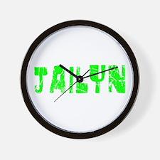 Jailyn Faded (Green) Wall Clock