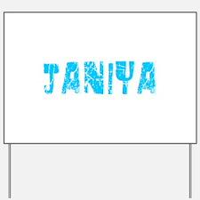 Janiya Faded (Blue) Yard Sign