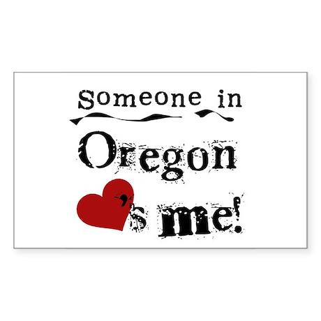 Someone in Oregon Rectangle Sticker