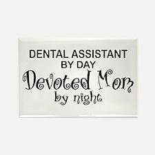 Dental Asst Devoted Mom Rectangle Magnet