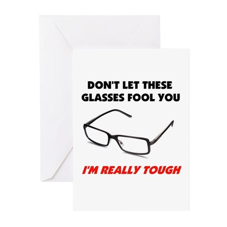 GLASSES Greeting Cards (Pk of 10)