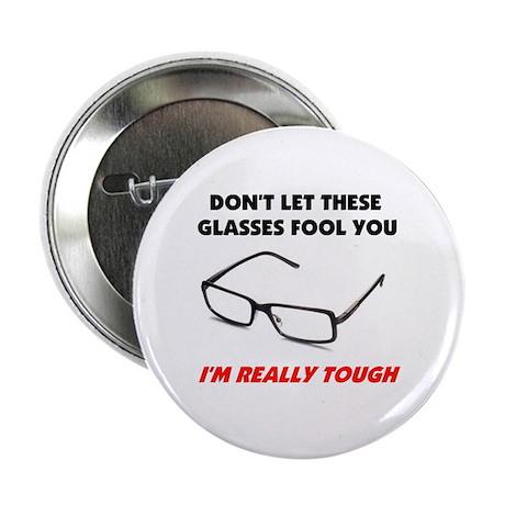 """GLASSES 2.25"""" Button"""