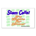 Stem Cells! It's What's For D Sticker (Rectangular