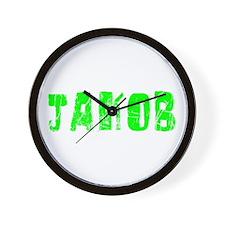 Jakob Faded (Green) Wall Clock