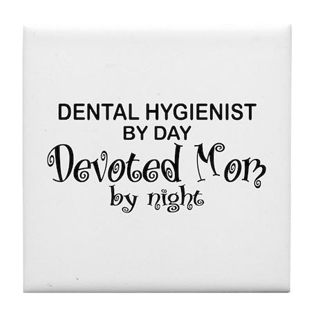 Dental Hygienist Devoted Mom Tile Coaster