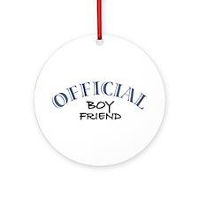Official Boy Friend Ornament (Round)