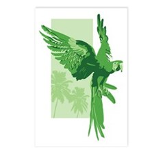 Green Parrot Postcards (Package of 8)