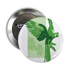 """Green Parrot 2.25"""" Button"""