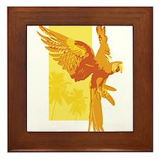 Orange Parrot Framed Tile