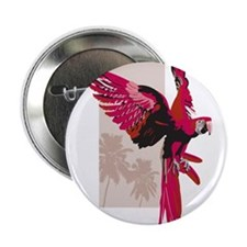 "Pink Parrot 2.25"" Button"