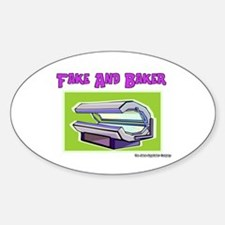 Fake and Baker Tanner Tanning Oval Decal