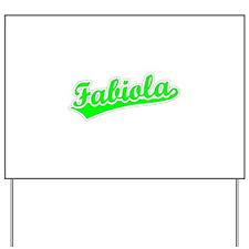 Retro Fabiola (Green) Yard Sign