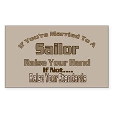 If your married to a Sailor Rectangle Decal