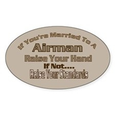 If your married to a Airman Oval Sticker (10 pk)