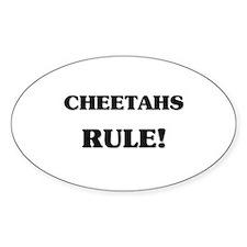 Cheetahs Rule Oval Decal
