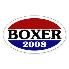 Boxer 2008 (oval bumper sticker)