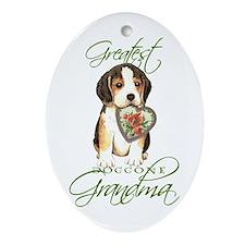 Beagle Grandma Oval Ornament