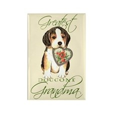 Beagle Grandma Rectangle Magnet