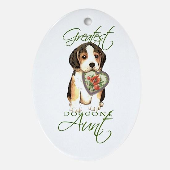 Beagle Aunt Oval Ornament