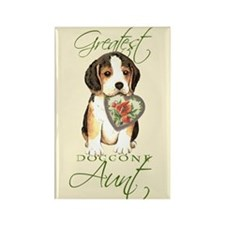 Beagle Aunt Rectangle Magnet