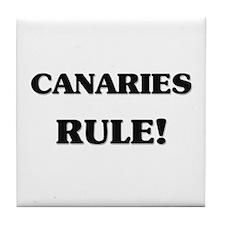 Canaries Rule Tile Coaster