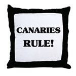 Canaries Rule Throw Pillow