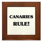 Canaries Rule Framed Tile