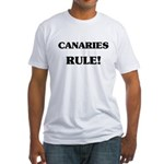 Canaries Rule Fitted T-Shirt