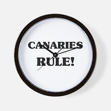 Canaries Rule Wall Clock