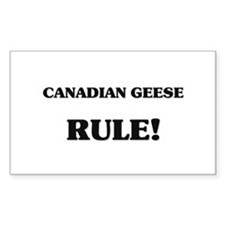 Canadian Geese Rule Rectangle Decal