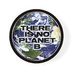 No Planet B Wall Clock