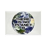 No Planet B Rectangle Magnet
