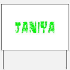 Janiya Faded (Green) Yard Sign