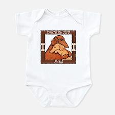 Dachshund Mom Hug Infant Bodysuit