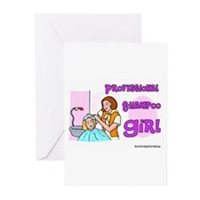 Professional Shampoo Girl Greeting Cards (Package
