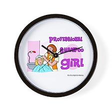Professional Shampoo Girl Wall Clock