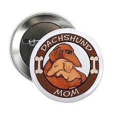 "Dachshund Mom Hug 2.25"" Button (10 pack)"