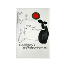 Blackerry Rabbitts self help Rectangle Magnet