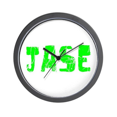 Jase Faded (Green) Wall Clock