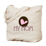 Pink Heart My Mom Tote Bag