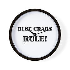Blue Crabs Rule Wall Clock